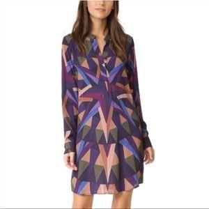Mara Hoffman Radical Compass Shirt Dress Small